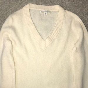 Cream Wool Knit Banana Republic Sweater Size M EUC